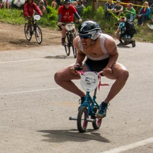 Mountain Bikers in Chainless World Championship Race-Crested Butte, Colorado