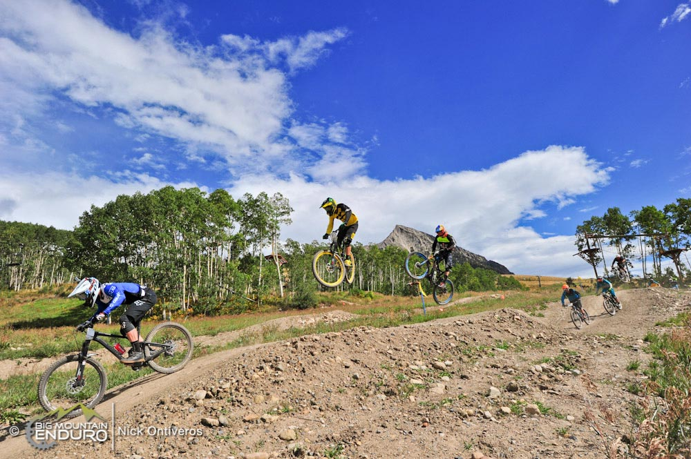 Pro Enduro Riders take on Evolution Bike Park on Crested Butte Mountain