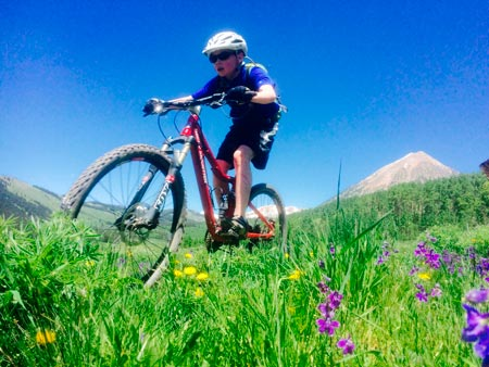The Gunnison Valley is full of great trails for groms