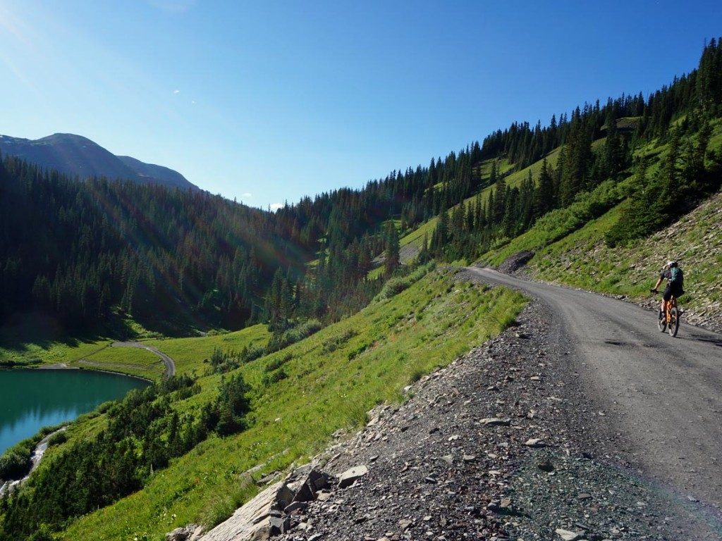road climb up to Schofield Pass and the 401