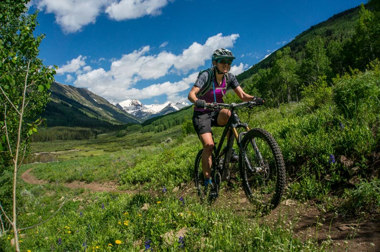 climbing the Gunsight Connector on a bike near Crested Butte, Colorado