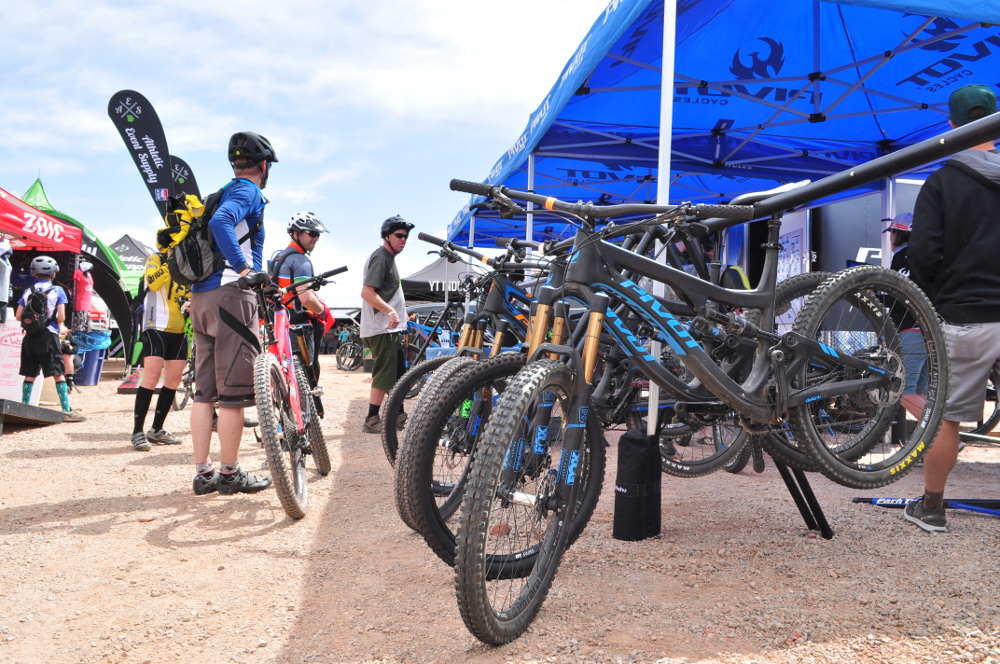 pivot cycles booth at outerbike moab