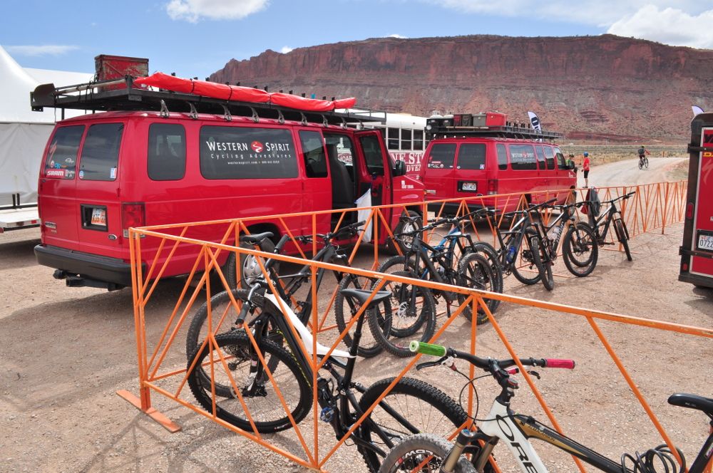 western spirit cycling shuttles at outerbike spring moab