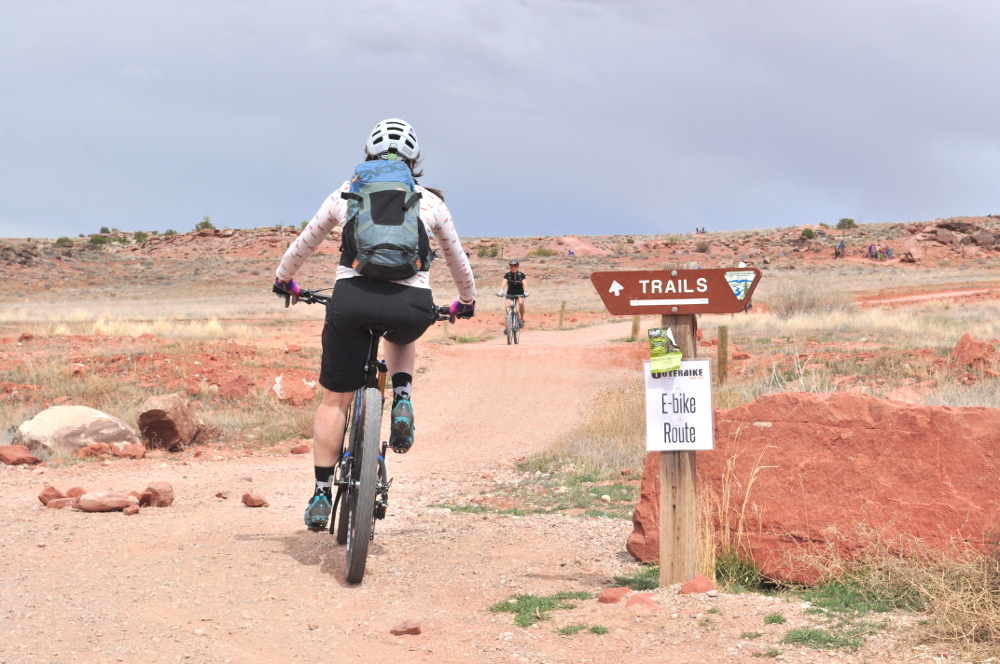 bar m trails at outerbike moab