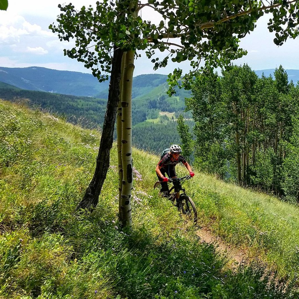 Mountain Biking on Teo Ridge