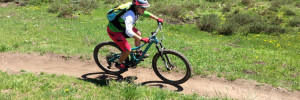 CB Devo Director Amy Nolan shredding singletrack