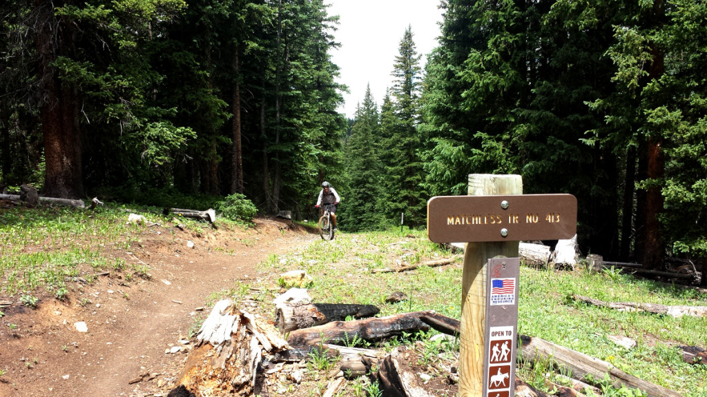 top of climb on matchless trail