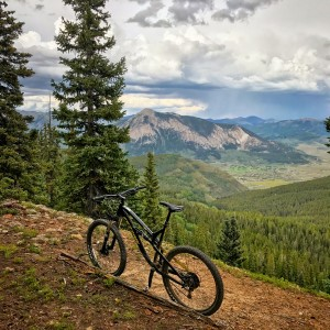 carbon trail view crested butte