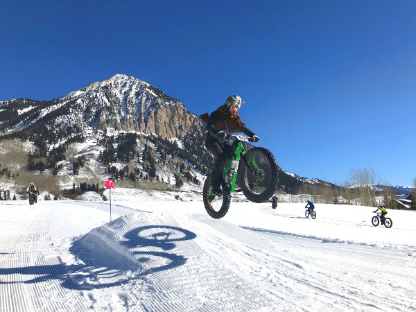fat bike booter at the Fat Bike World Championships