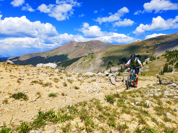 alpine riding on fossil ridge gunnison colorado